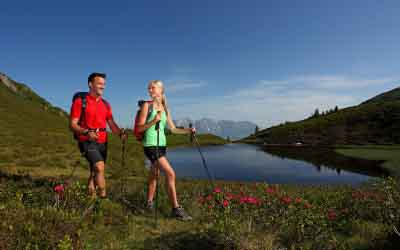 Hiking in the Valley of Alpine Meadows Grossarler Hof