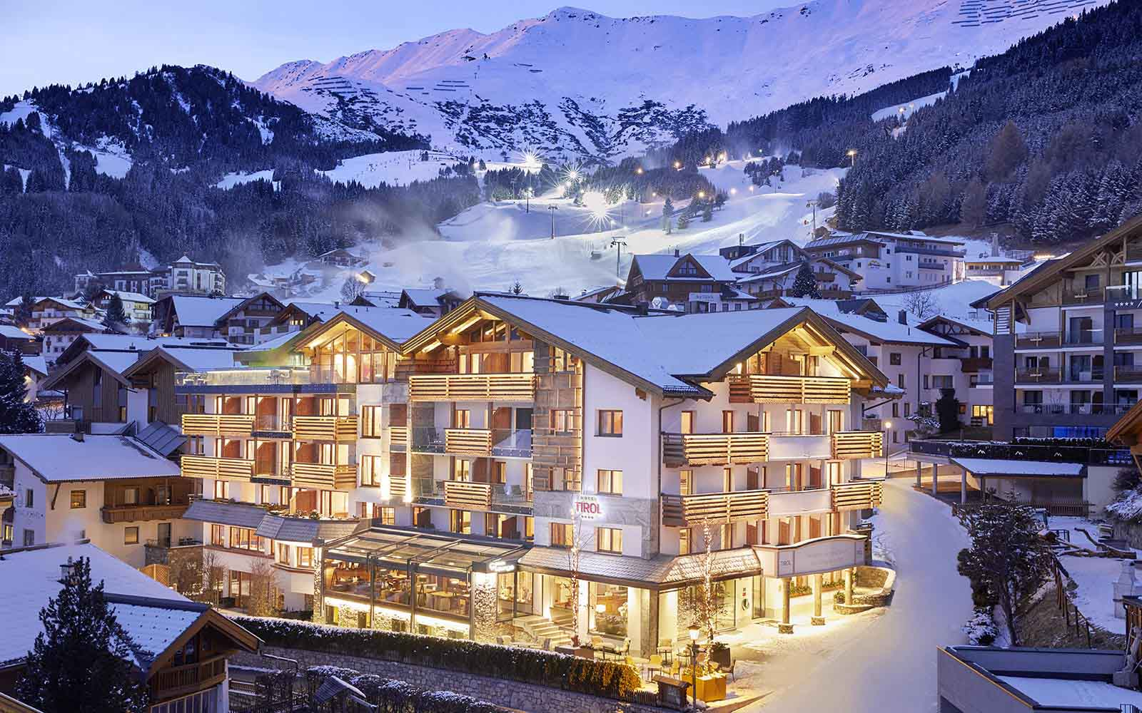 Hotel Tirol Fiss Serfaus-Ladis-Fiss Tyrol Austria Lifestyle-Hotel Winter Holidays Skiing Winter Hotel Outdoor