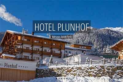 Winter Plunhof Ridnaun South Tyrol Italy Spa Wellness