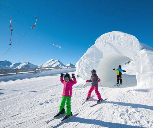 Easter skiing - Niche Destinations 4-star-superior hotel GROSSARLER HOF children skiing