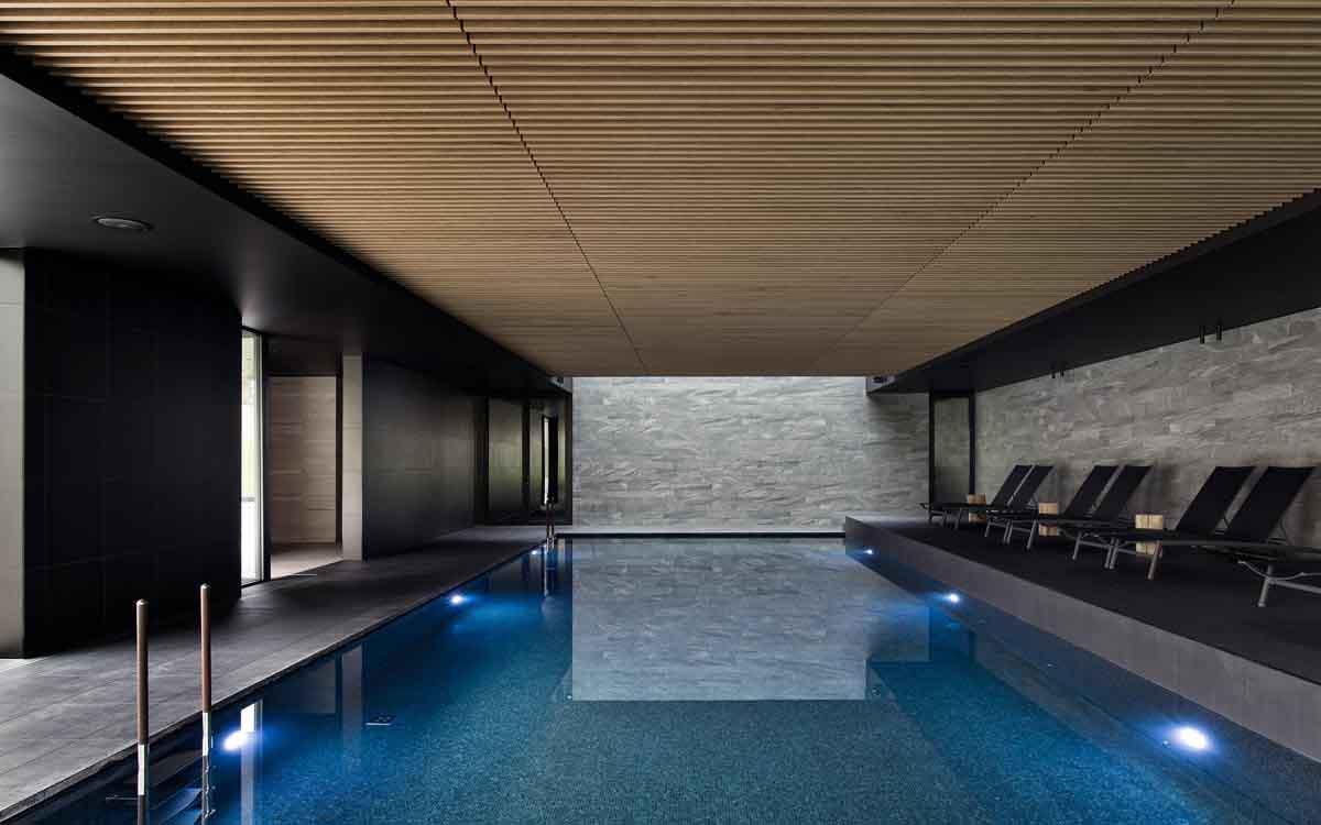 Indoor Pool niche destinations Domaine La Butte Aux Bois Flandern Lanaken Belgium La Foret La Source Foodie Deal