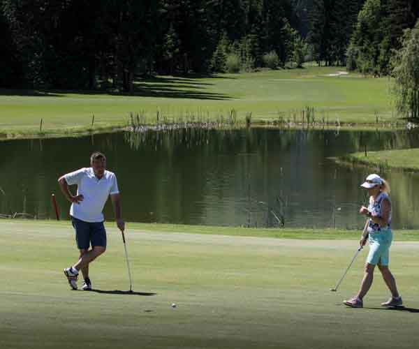 Golf warm up Golf refresher hotel Rosengarten Tyrol Austria