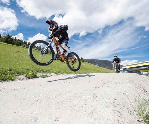 Biking action at Hotel Tirol Fiss Lifestyle Hotel Serfaus Fiss Ladis Tyrol Austria