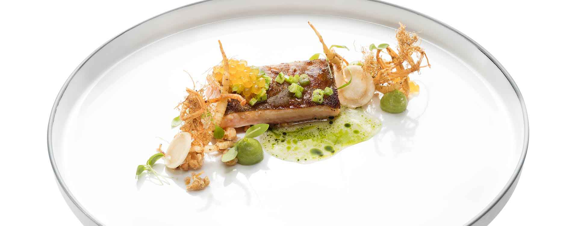 Gourmet kitchen taster at the 5-star Relais & Châteaux Rosengarten