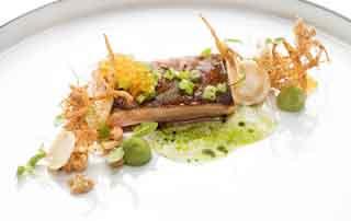 Gourmet taster at the 5-star Relais & Châteaux Rosengarten