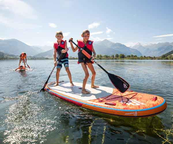 Cool summer fun Teenager summer days Zell am See SalzburgerLand Sporthotel Alpenblick
