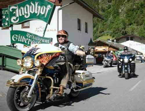 17th HD bikers' meeting at the 5-star SPA-HOTEL Jagdhof, Tyrol