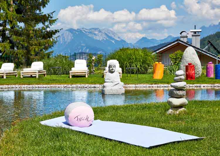 In the flow of life with meditation at Ayurveda Resort Sonnhof Tyrol Austria
