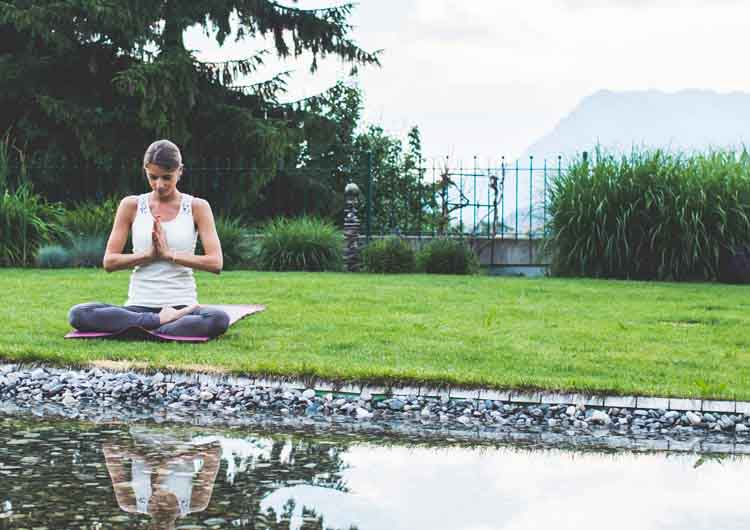 Meditation at European Ayurveda Resort Sonnhof Tyrol Austria