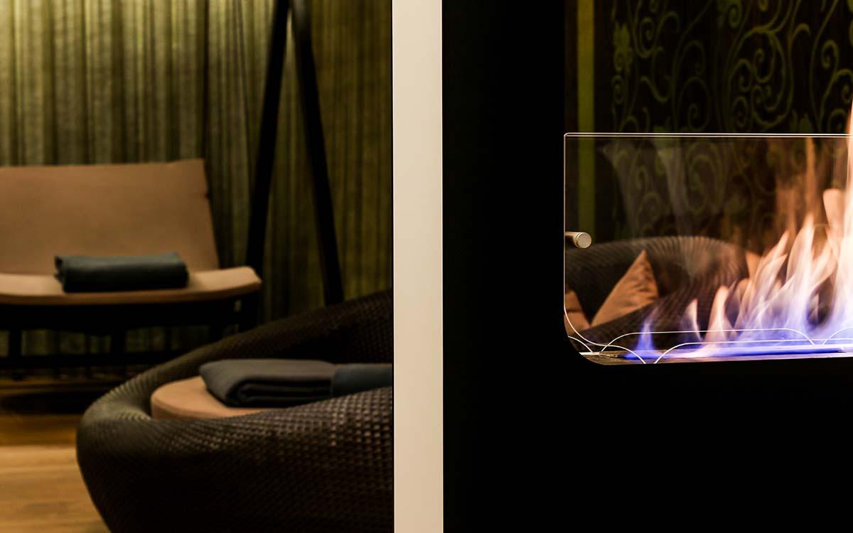 Advent experience 5-star gourmet Hotel Rosengarten fireplace