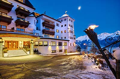 Christmas ski holidays in Tyrol at the 5-star Schlosshotel Fiss in Serfaus-Fiss-Ladis Tyrol Austria Das Hotel