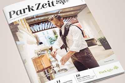 ParkZeit new guest magazine Park Igls Mayr clinic in Tyrol Austria