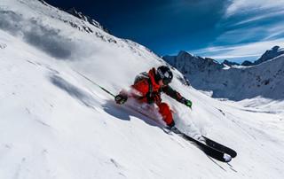 Skiing in November Ski lifts Hochgurgl Ötztal Austria ski resort freerider