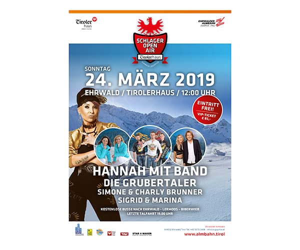 apres-ski Schlager Open Air Family Hotel Tirolerhof Ehrwald Zugspitzarena 2019