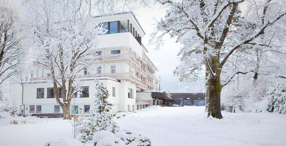 Fasting at Mayr Clinic Park Igls Modern Mayr Medicine Innsbruck Tirol Austria exterior view winter