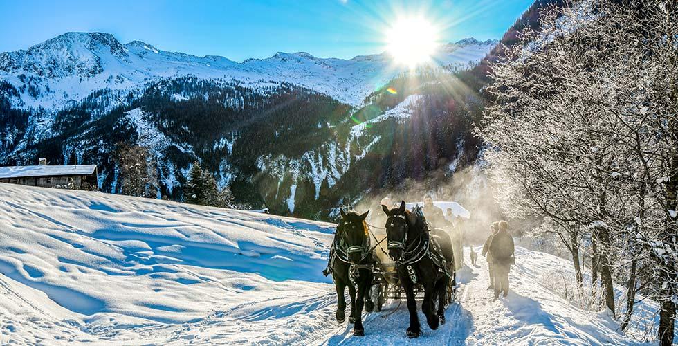 Winter sports destinations Austria South Tyrol