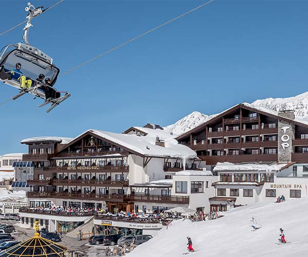 skiing in March TOP Hotel Hochgurgl Skiresort Hochgurgl Obergurgl Gurgl exterior view
