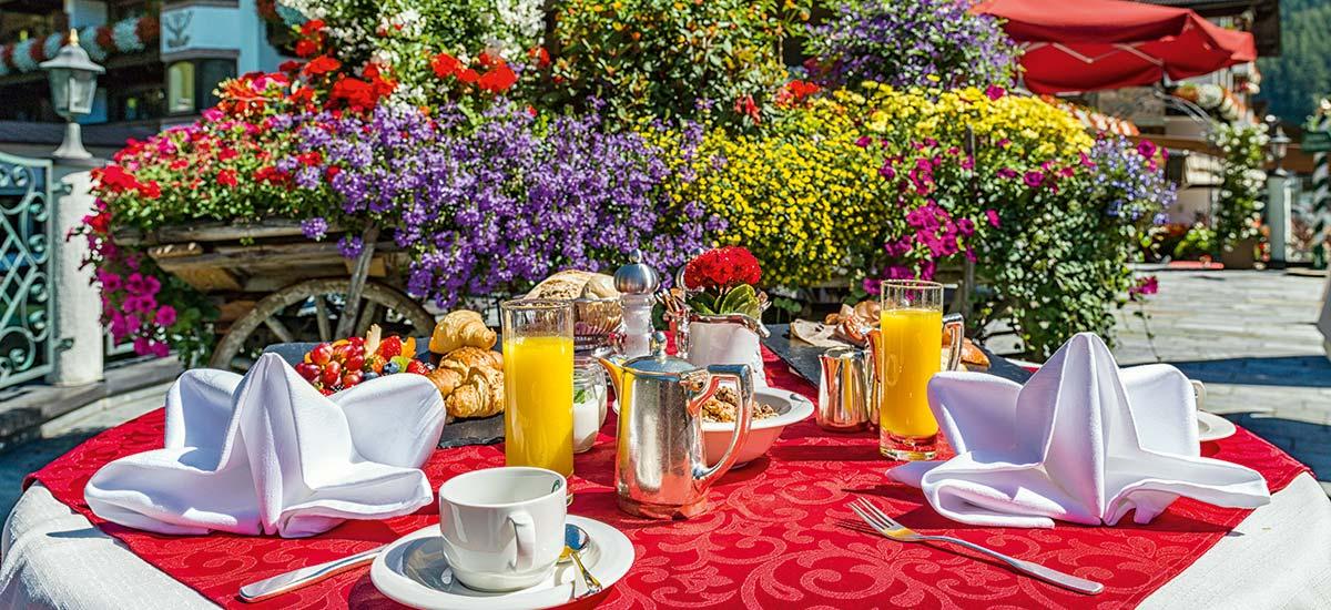 Holiday on the sun terrace