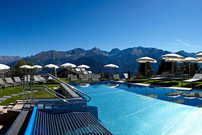 Schlosshotel Fiss 5 star hotel with pools