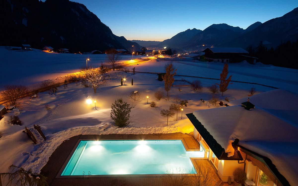 4 star Hotel Pirchnerhof Alpbachtal Tyrol heated outdoor pool