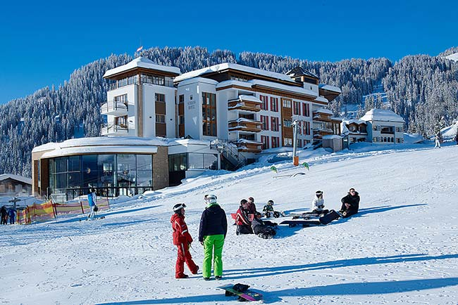 5 star ski in ski out Schlosshotel Fiss Tyrol