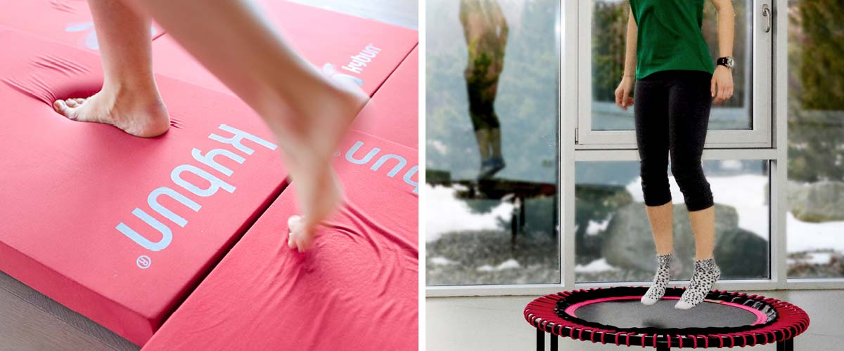 Exercises to strengthen the back at Park Igls