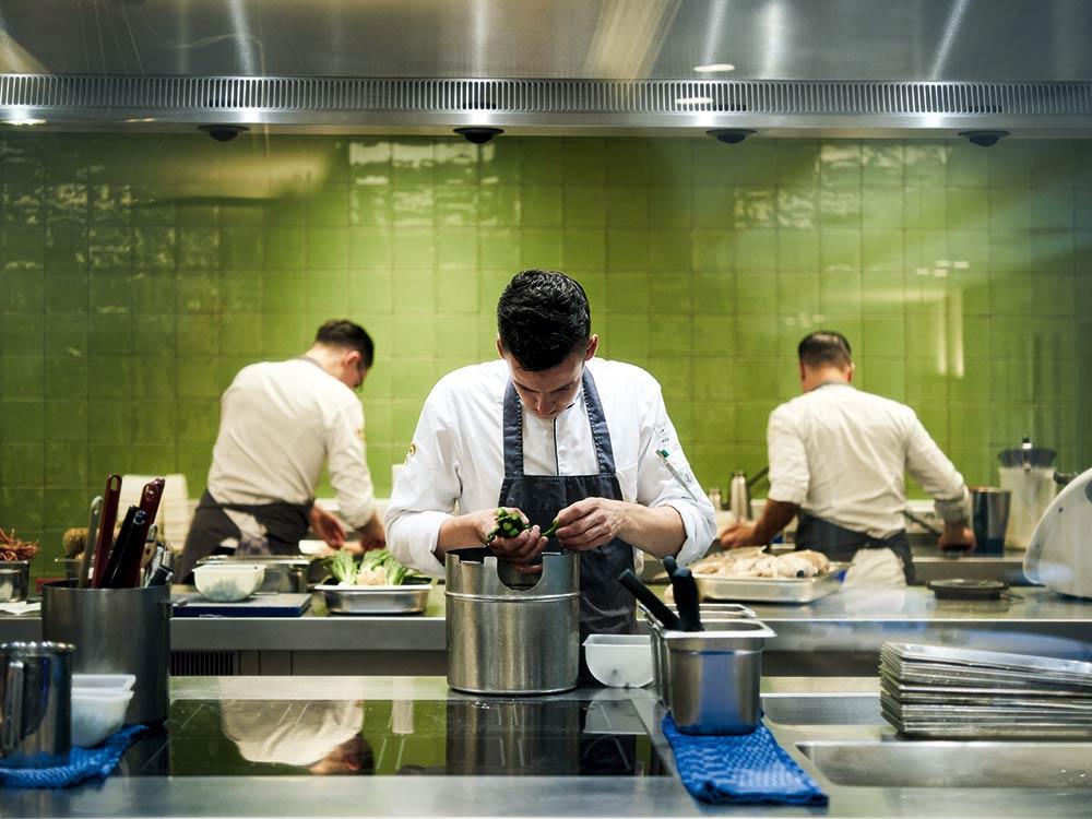 La Source kitchen behind the scenes