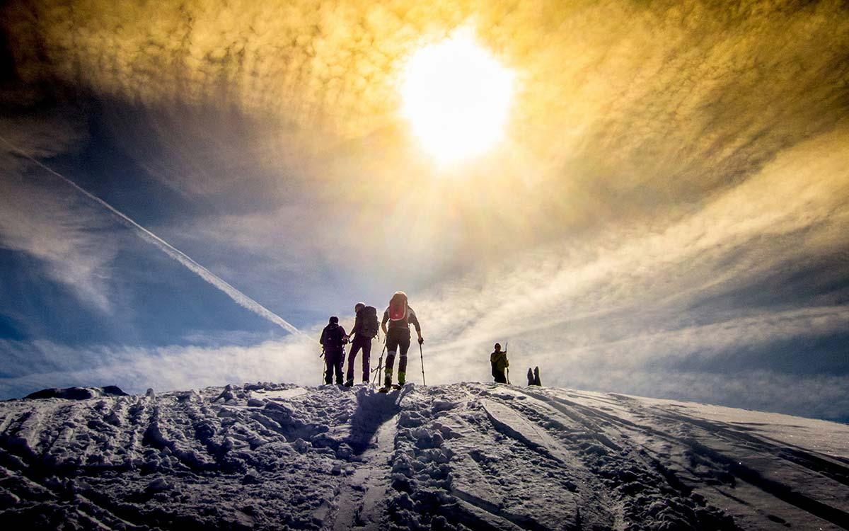 Snowshoeing Alpbachtal Tyrol soft winter sports