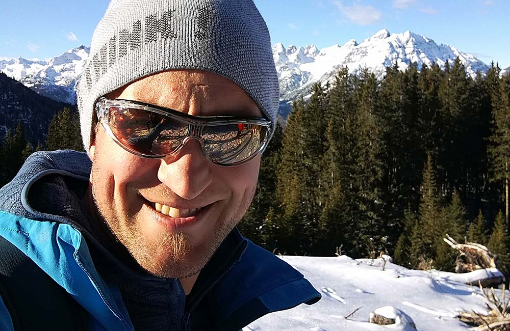 Armin Stern snowshoeing guide Stubai