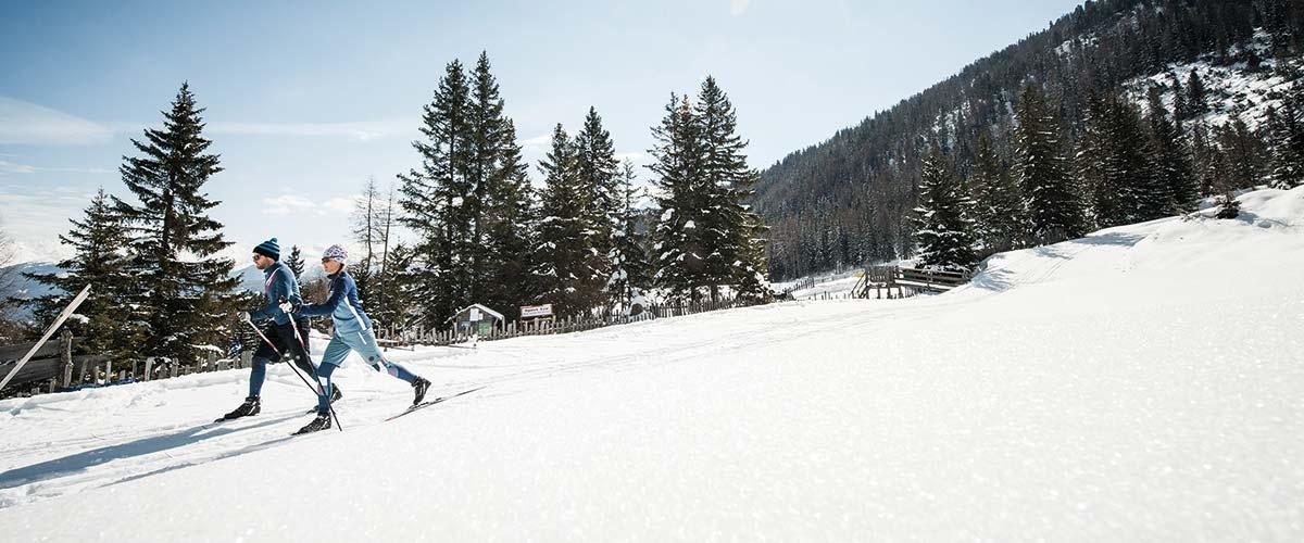Cross country skiing in Stubai