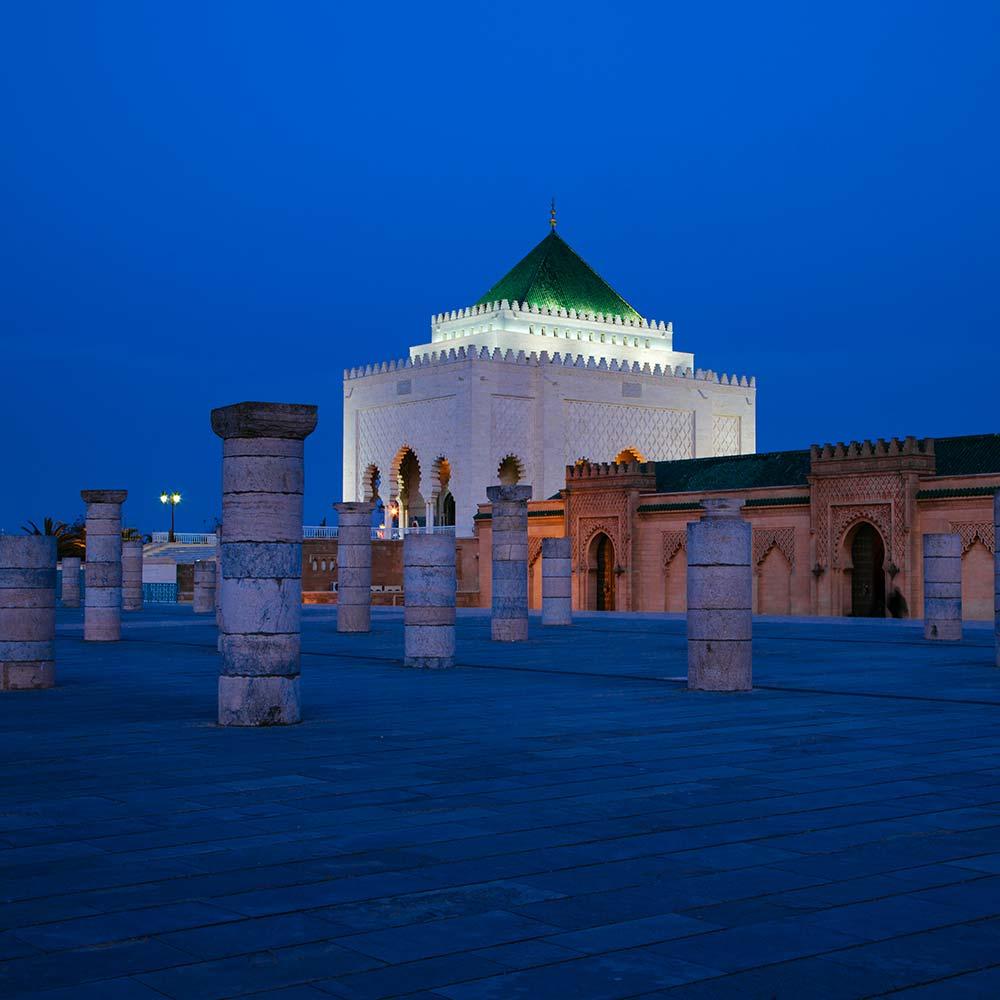 Rabat city trip Morocco mausoleum Mohammed V