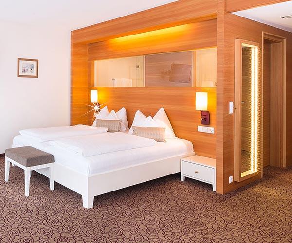 4 Sterne Hotel ALPENrose Kufstein Tirol Austria Restaurant ALPENROSE Spa Doubleroom Premium